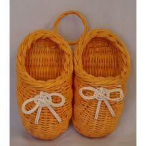 38-299  Rattan cipő narancs.