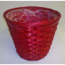 01-80/R  Bambusz kaspó vörös.