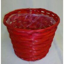 66-32/R  Bambusz kaspó vörös