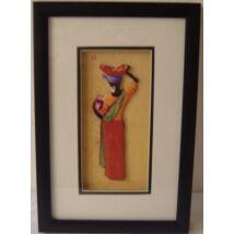 449-C Falikép piros szoknyás hölgy