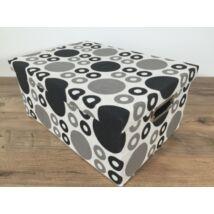 55-LF-98/L  Textil doboz fekete pöttyös