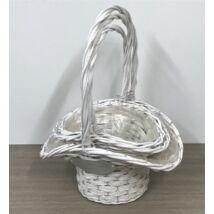 275-095/FEHÉR/SZETT  Florentin peremes fehér