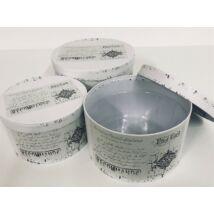 100-21  Vintage papírdoboz szett/3