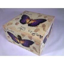 Design láda pillangó