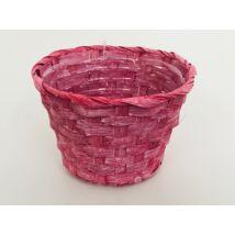 66-29-A/R Bambusz pohár antik/piros