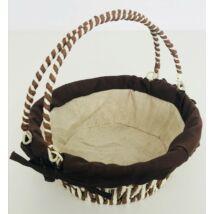 70-125 Kenyeres kosár lehajtható fülű kerek