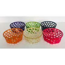 8-60 Bambusz kosár kerek színes MIX