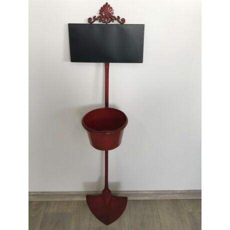 Bádog+pala falikaspó piros LAPÁT